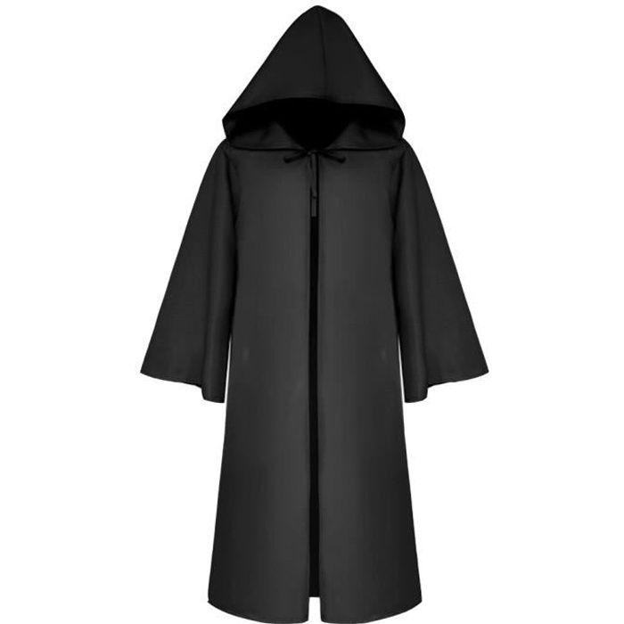 Soirées Gothic Capuche Manteau Halloween Capuchon Médiévale Robe à Pour Masquerade Noir Vêtements Cape Cosplay à Poncho nXPZ0k8NwO
