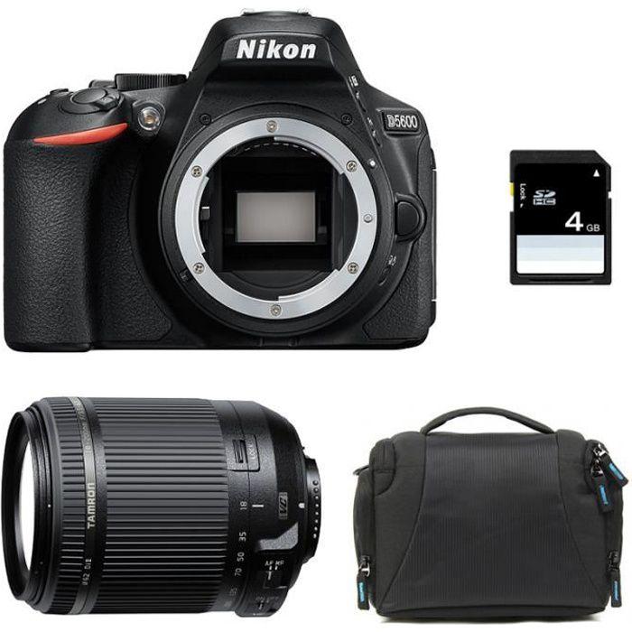 APPAREIL PHOTO RÉFLEX NIKON D5600 + TAMRON 18-200mm VC GARANTI 3 ans + S