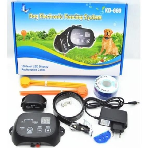 ANTI-FUGUE - CLOTURE CLOTURE ANTI FUGUE CHIEN RECHARGEABLE ETANCHE 300m
