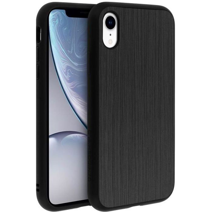 coque iphone xr protection metal brosse serie soli