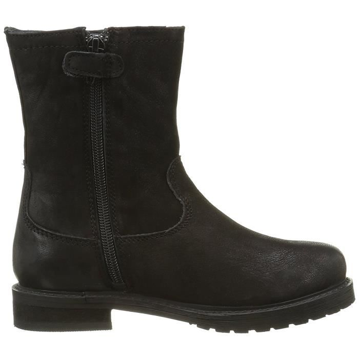 BOTTINE KICKERS CUIR NOIR