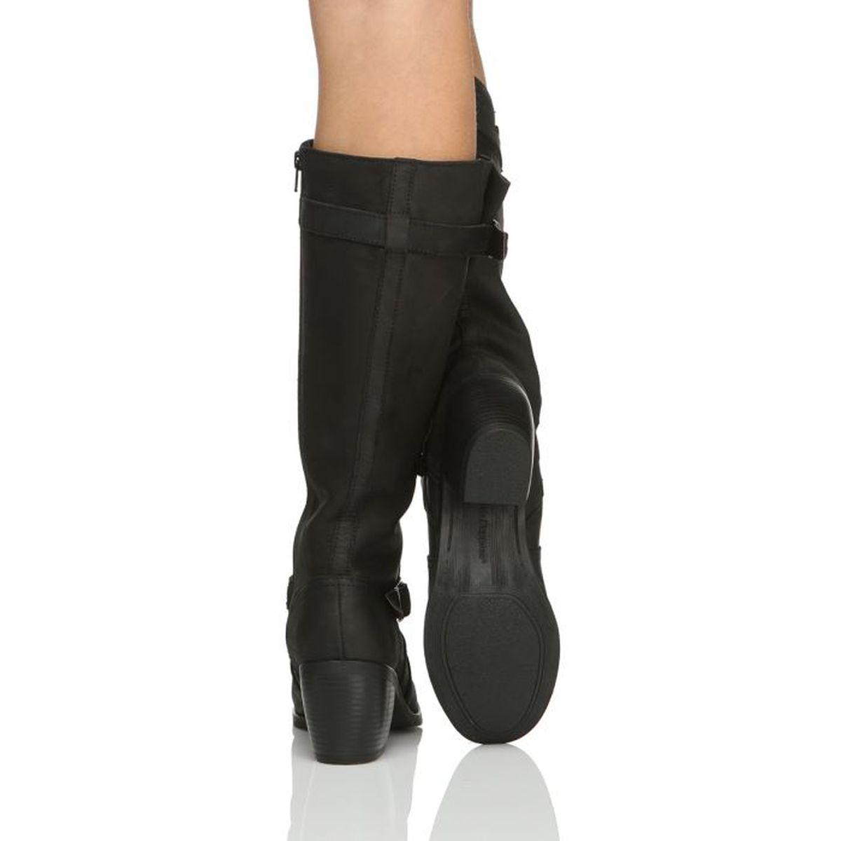 HUSH PUPPIES Bottes Rustique Boots Femme femme noir Achat