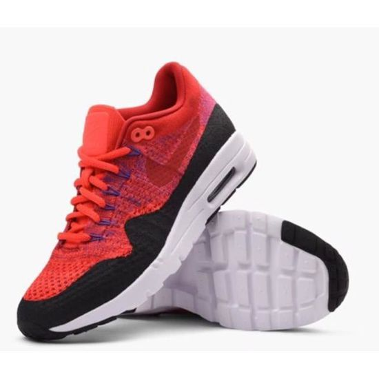 NIKE AIR MAX 1 ULTRA FLYKNIT Basket mode femme rouge rouge ...