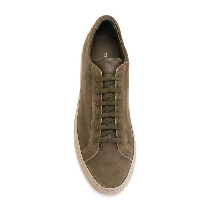COMMON PROJECTS HOMME 20981010 VERT SUÈDE BASKETS