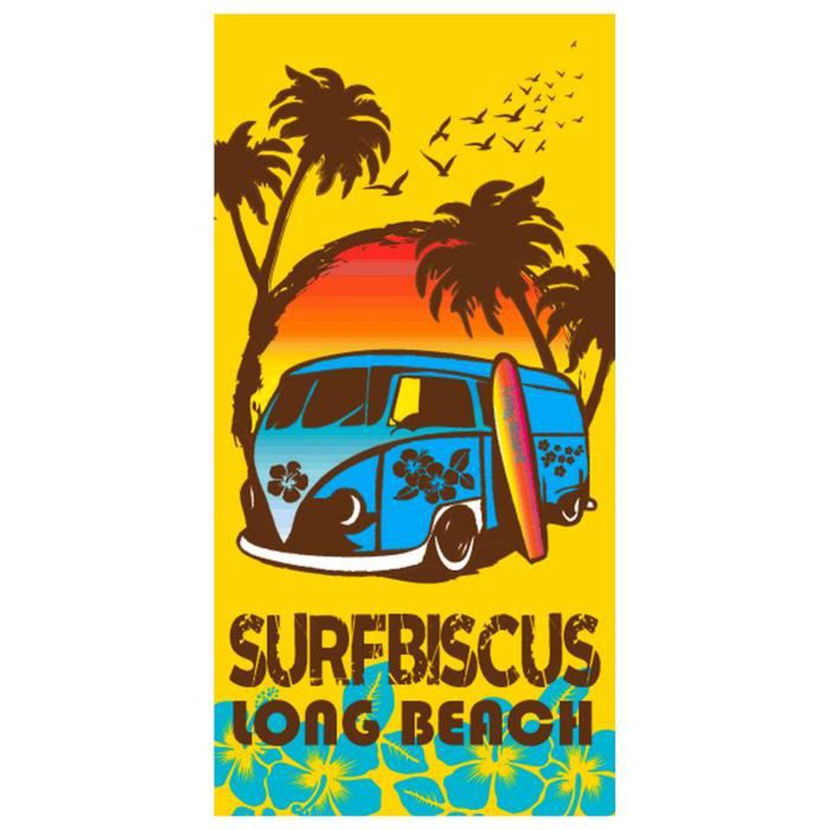 Sun and Surf Drap DE Plage PANTHERE Noire 95x175cm