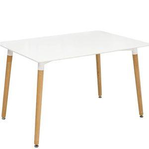 TABLE À MANGER SEULE Haute qualité Table à Manger Rectangulaire de 4 -