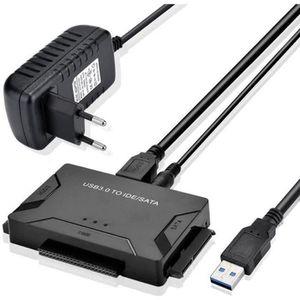 CHARGEUR - ADAPTATEUR  USB Disque Dur Adaptateur USB 3.0 vers IDE SATA, C