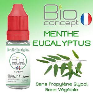 LIQUIDE E liquide BIO CONCEPT MENTHE EUCALYPTUS 0MG 10ml -