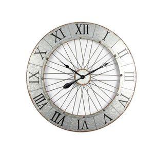 HORLOGE - PENDULE IRON Horloge murale effet métal - Acier - Ø80x5 cm