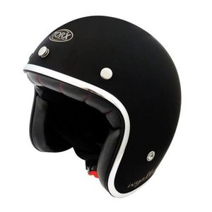 CASQUE MOTO SCOOTER CASQUE JET VINTAGE WYATT SHINY BLACK  (XL)
