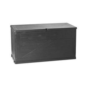 COFFRE D'EXTÉRIEUR Coffre multibox wood gris 420L