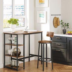 MANGE-DEBOUT VASAGLE Table Haute Table de Bar Rectangulaire ave