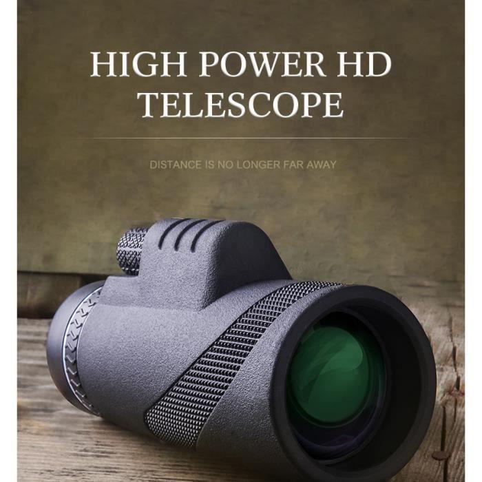 Puissant télescope monoculaire pour Smartphone 40X60 militaire Spyglass haute qualité grand oculaire HD chasse longue-vue monture