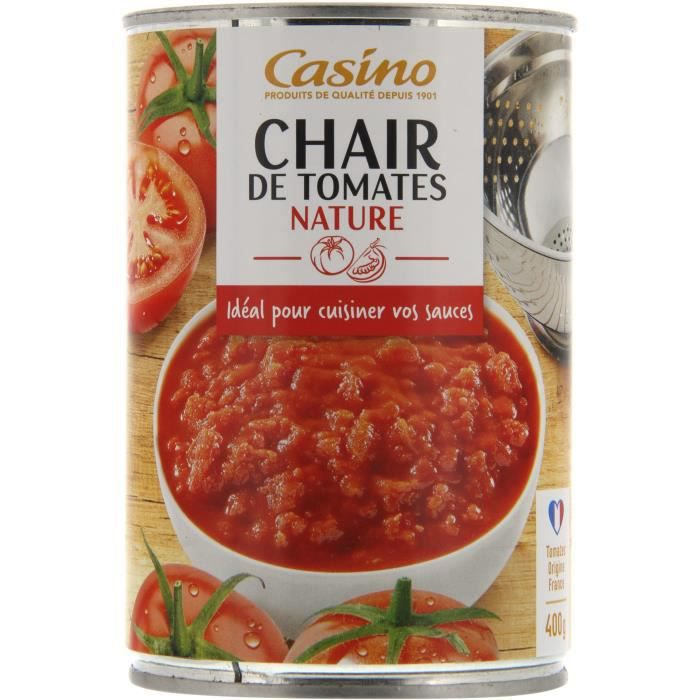 CASINO Chair de Tomates Nature - 400G