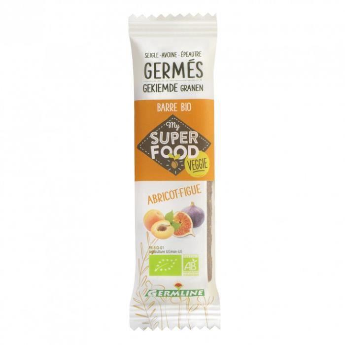 Barre céréales germées abricot-figue 33gr - GermLine