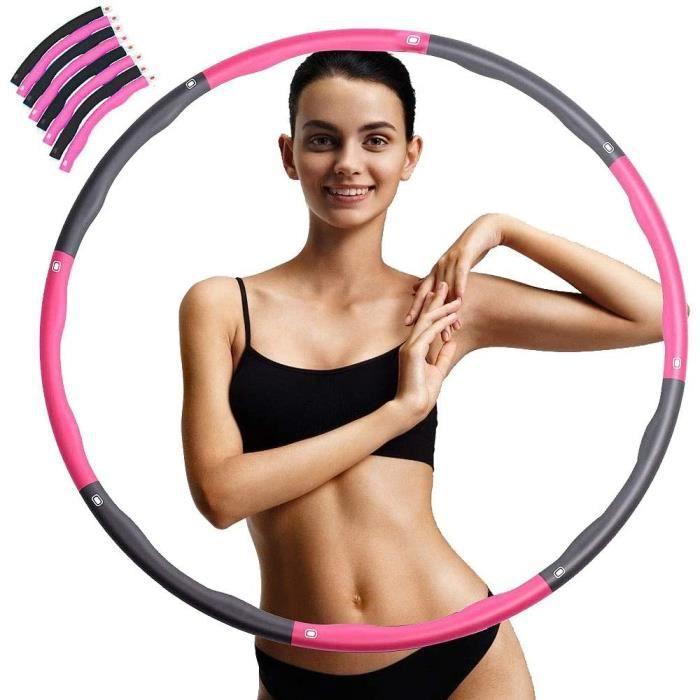 Hula Hoop De Fitness, Minceur Hula Hoop, Cerceaux De Massage Magnétiques,8 Sections Cerceau De Fitness Amovible avec Mousse