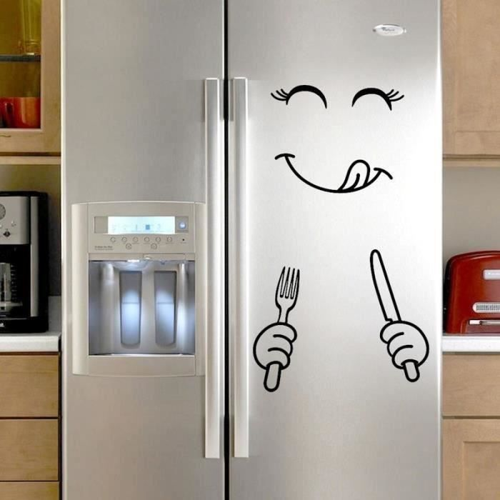 HT Sticker Frigo Emoji Délicieux Étanche Autocollant Réfrigérateur Décoration Cuisine Créatif - Style B - HTVSO827AA16414