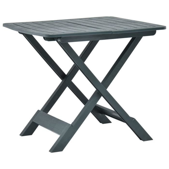 Table de Jardin Pliable - Table de reception pliante fête Buffet Jardin Camping Party- Vert 79x72x70 cm Plastique