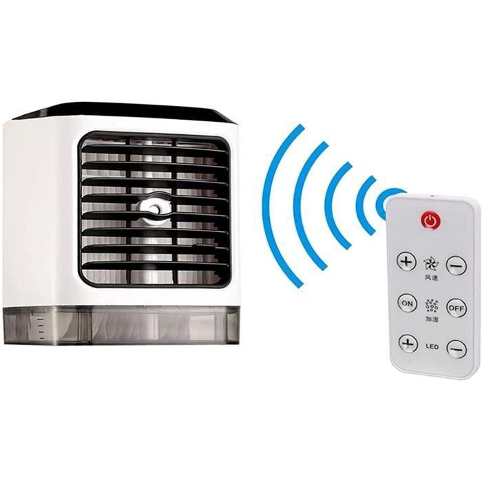 Climatiseur portable pour la maison, climatiseur portable avec télécommande sans fil, climatiseur portable, 3 vitesses, humidifica