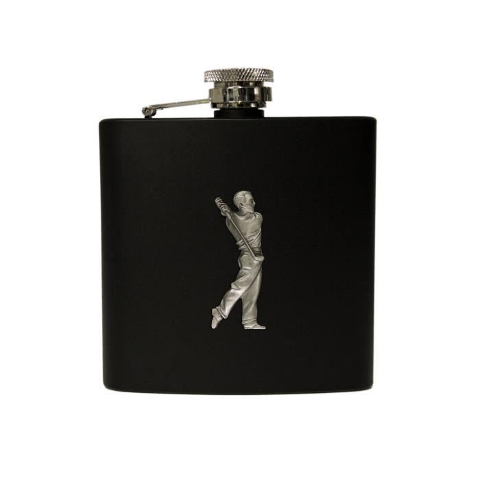 Flasque 6oz noir joueur de golf