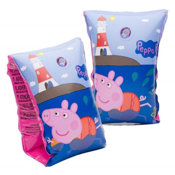 1 paire de brassard Peppa pig 3 a 6 ans 18 a 30 kg piscine plage