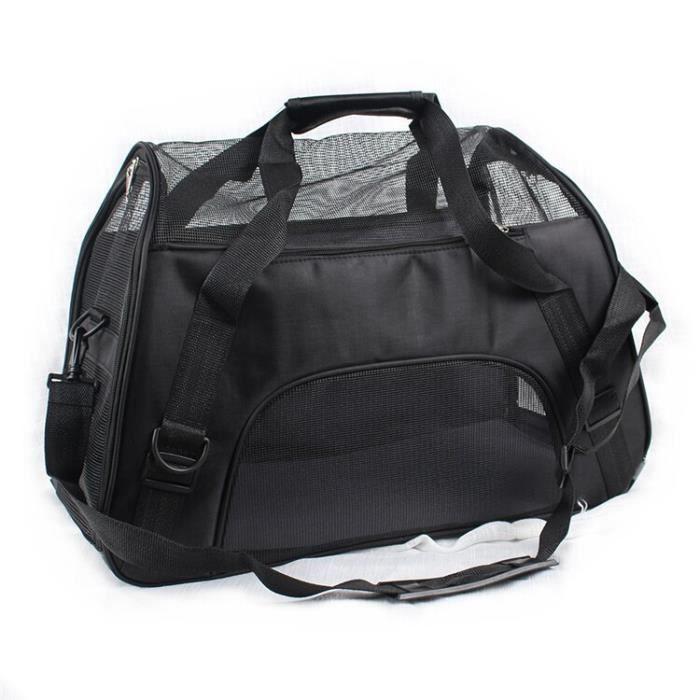 Sac de transport,PipiFren petits sacs de transport pour chats sac de transport pour chiens, sac à dos pour animaux - Type Black-S