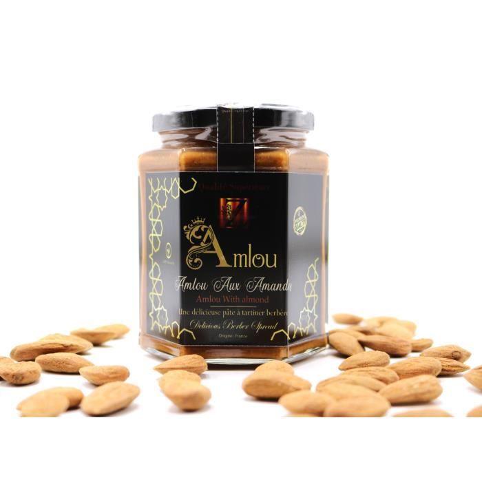 Pate à tartiner Amlou a l'amande (bio) 100% Naturelle.300g