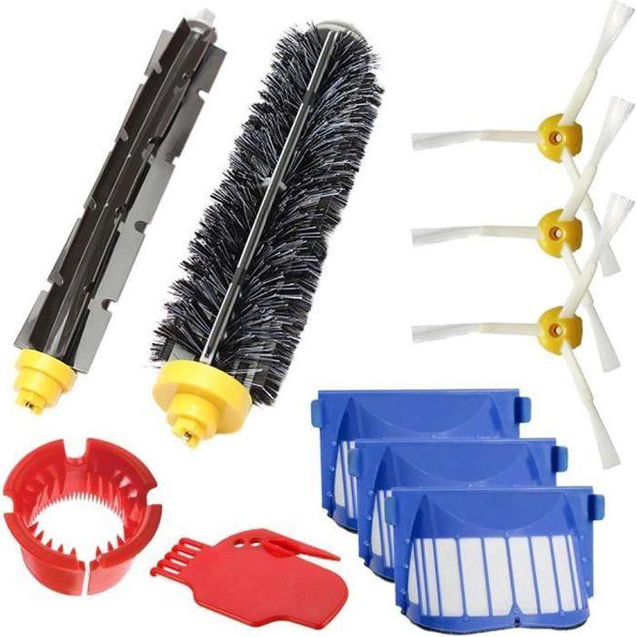 Remplaçant Brosse Kit Pièces accessoires pour iRobot Roomba Series pour 585 589 600 605 610 615 616 620 621 625 630 631 632 639 650