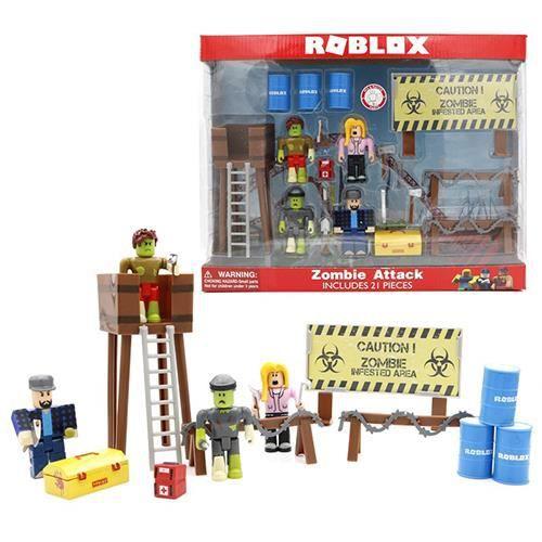 ROBLOX Virtual World Zombie Attack Set 7 cm modèle enfant jouet activité personnage cadeau de vacances pour enfants