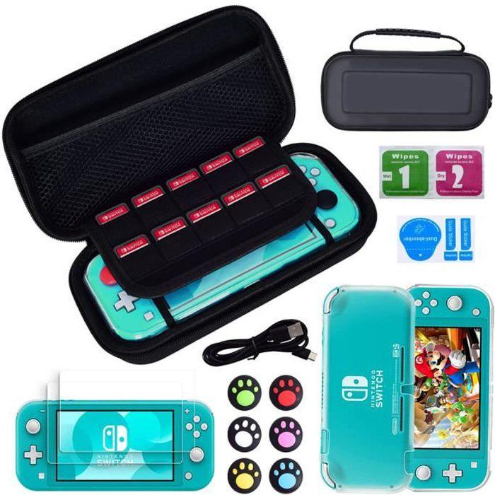 Switch Lite Accessoire Pack pour Nintendo Switch Lite (2019) Pack Comprenant: Etui de transport ,Coque protection, Protecteurs d'éc