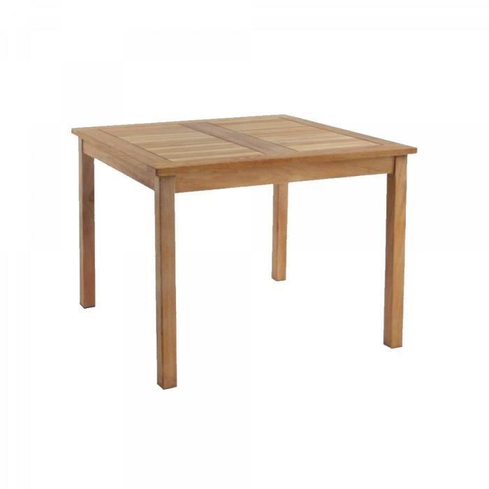 Karra - Table de jardin carrée Teck