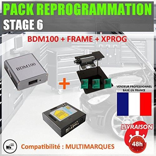 Mister Diagnostic® PACK REPROGRAMMATION STAGE 6 - BDM 100 + FRAME+ XPROG V5.55 - fap egr epprom obd