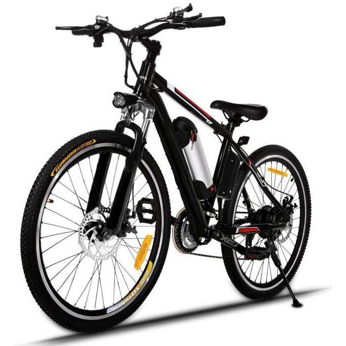 Vélo électrique de montagne pour homme adulte 26 pouces - 36V 8AH 250W 21 vitesses - EU Prise