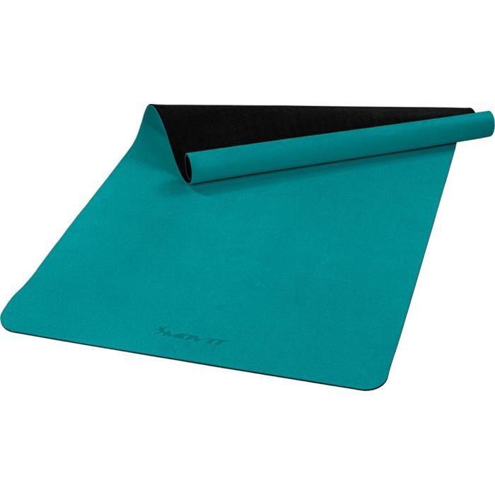 MOVIT Tapis de gymnastique XXL TPE, tapis de pilates, tapis d'exercice premium, tapis de yoga, 190 x 100 x 0,6 cm, vert foncé