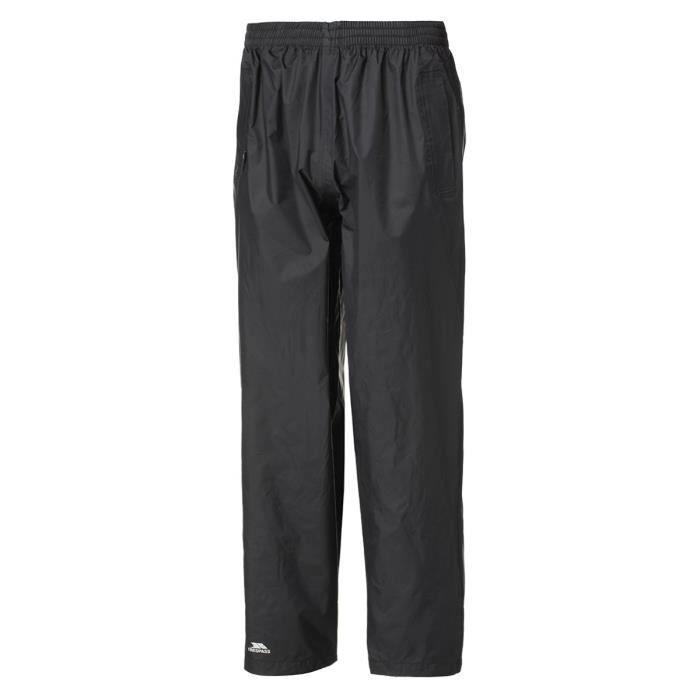 TRESPASS Pantalon de randonnée Qikpac Pant - Mixte - Noir
