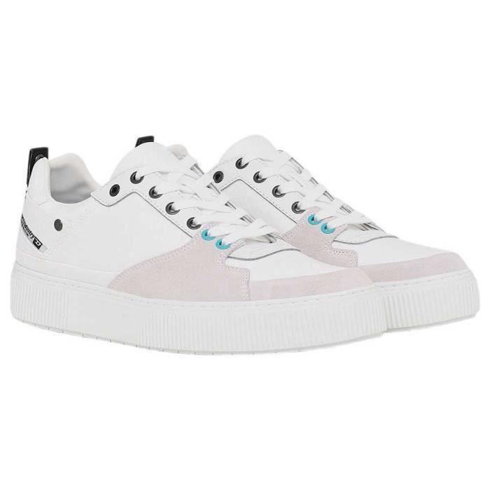 chaussures homme baskets diesel danny lc. ces sneakers ont été fabriquées avec soin à partir de tissu et de cuir dans une superposit