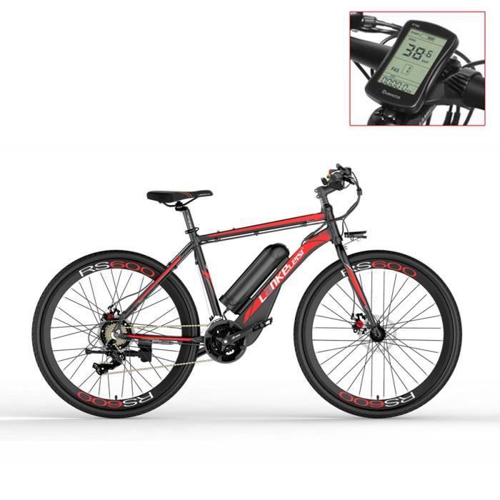 RS600-UP 700C Vélo électrique à assistance pédale, batterie 36V 20Ah, vélo de route à moteur 300W (rouge)