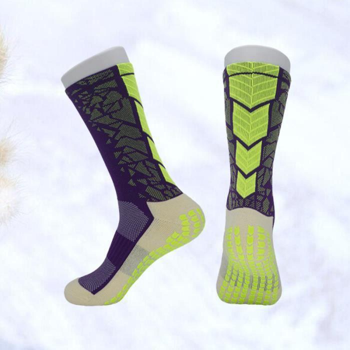 2 paires de chaussettes de football pour hommes, absorption de la transpiration respirante, anti-dérapant dans des en SLIP-ON