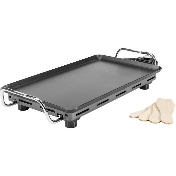 Barbecue Princess Pro 01.102300.01.500 table avec réglage manuel de la température, avec pied noir, argent 1 pc(s)