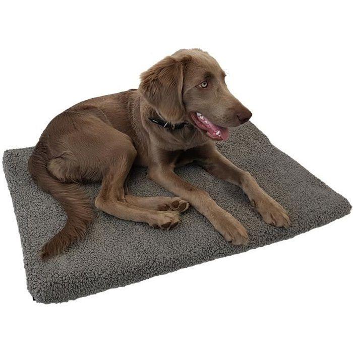 Tapis orthopédique pour chien ou chat Laika 80 x 55 x 5 cm - Matelas viscoélastique mousse à mémoire avec housse amovible