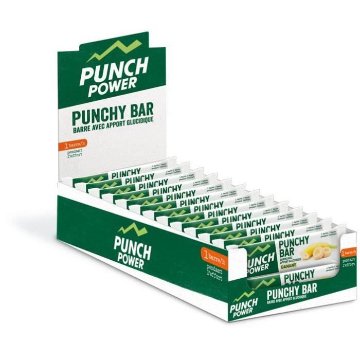 PUNCH POWER PUNCHY BAR BANANE - PRÉSENTOIR 40 BARRES