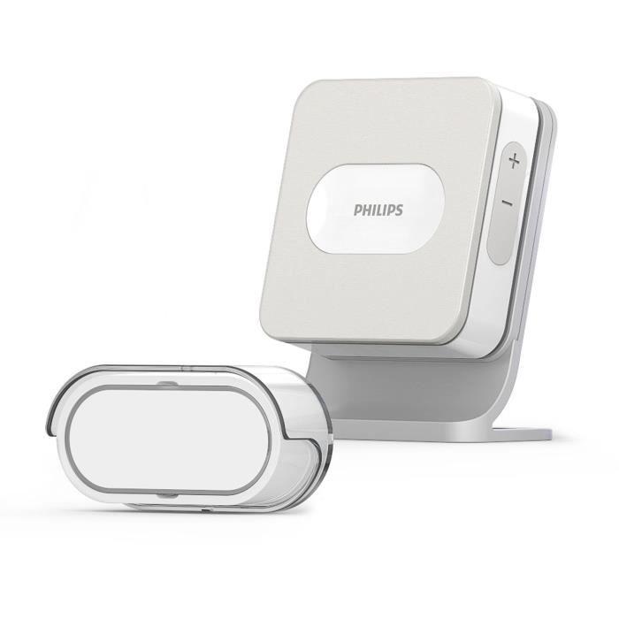 Kinetic Halo Plug : Carillon à brancher, sonnette sans fil et sans pile -