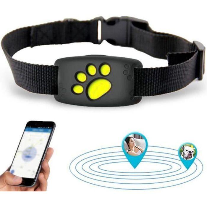 QQ37434-Collier de traqueur GPS pour animaux de compagnie Chiens Chats Dispositif de suivi Chien étanche Localisateur de positionn