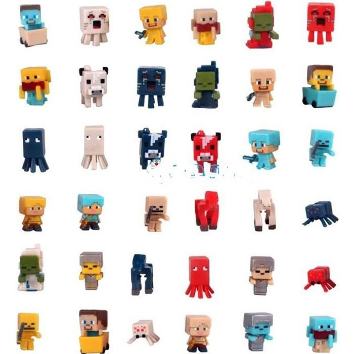 36pcs minecraft figurines figurine personnage miniature 3526480270339 achat vente. Black Bedroom Furniture Sets. Home Design Ideas
