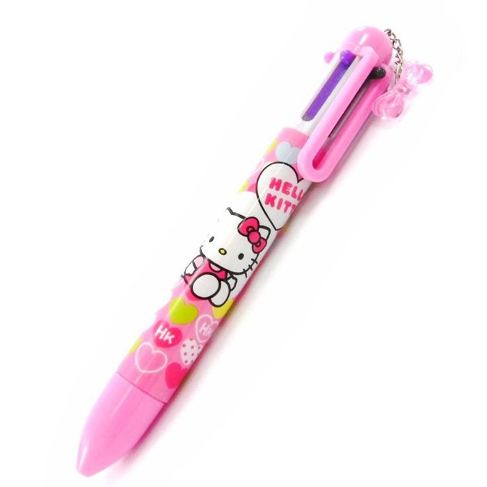 Stylo 6 couleurs hello kitty rose achat vente stylo parure stylo 6 couleurs hello kit - Hello kitty couleur ...