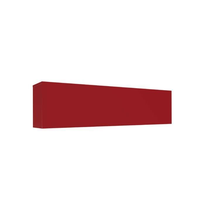 Meuble tv mural horizontal down l rouge achat vente for Meuble horizontal mural