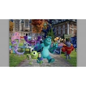 fresque murale monster university de disney junior papier. Black Bedroom Furniture Sets. Home Design Ideas