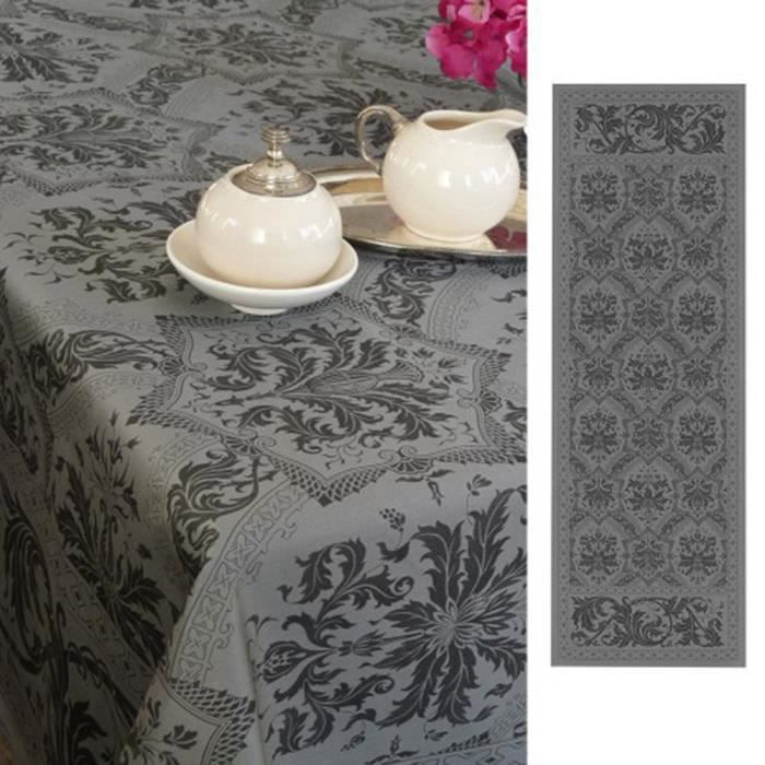 T te t te topkapi anthracite achat vente chemin de table cdiscount - Chemin de table gris anthracite ...