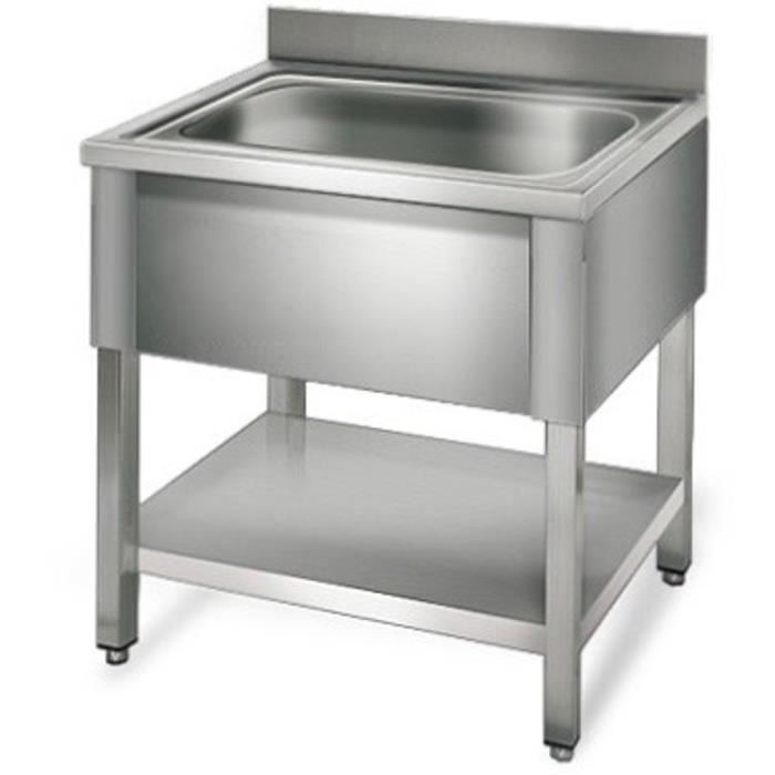 Equipementpro plonge inox 80cm table de plonge for Table evier inox professionnel