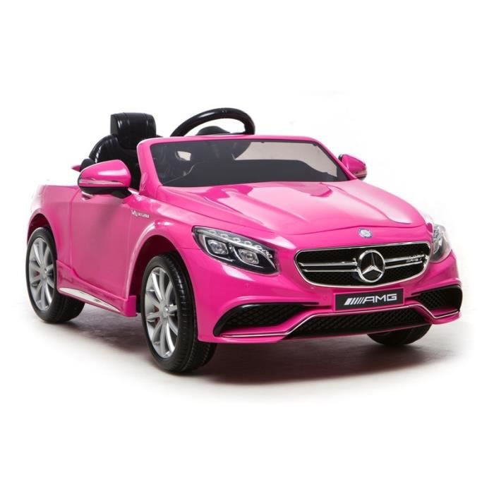 mercedes s63 amg rose avec t l commande parentale 2 4ghz voiture lectrique enfant 12v7ah 2. Black Bedroom Furniture Sets. Home Design Ideas